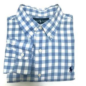 Ralph Lauren Custom Fit Gingham Button Down - L